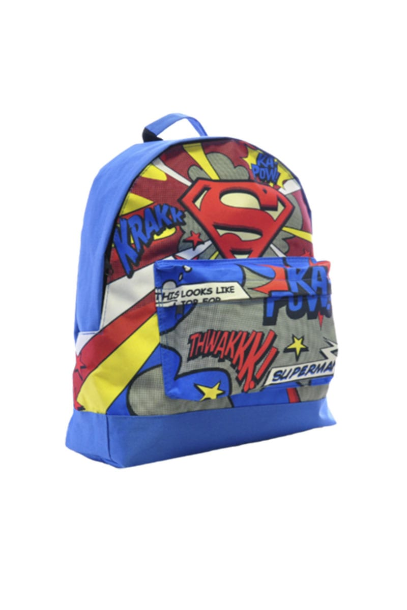 Official DC Comics Superman Character Boys Kids Backpack Rucksack ... eb86dd6b4c289
