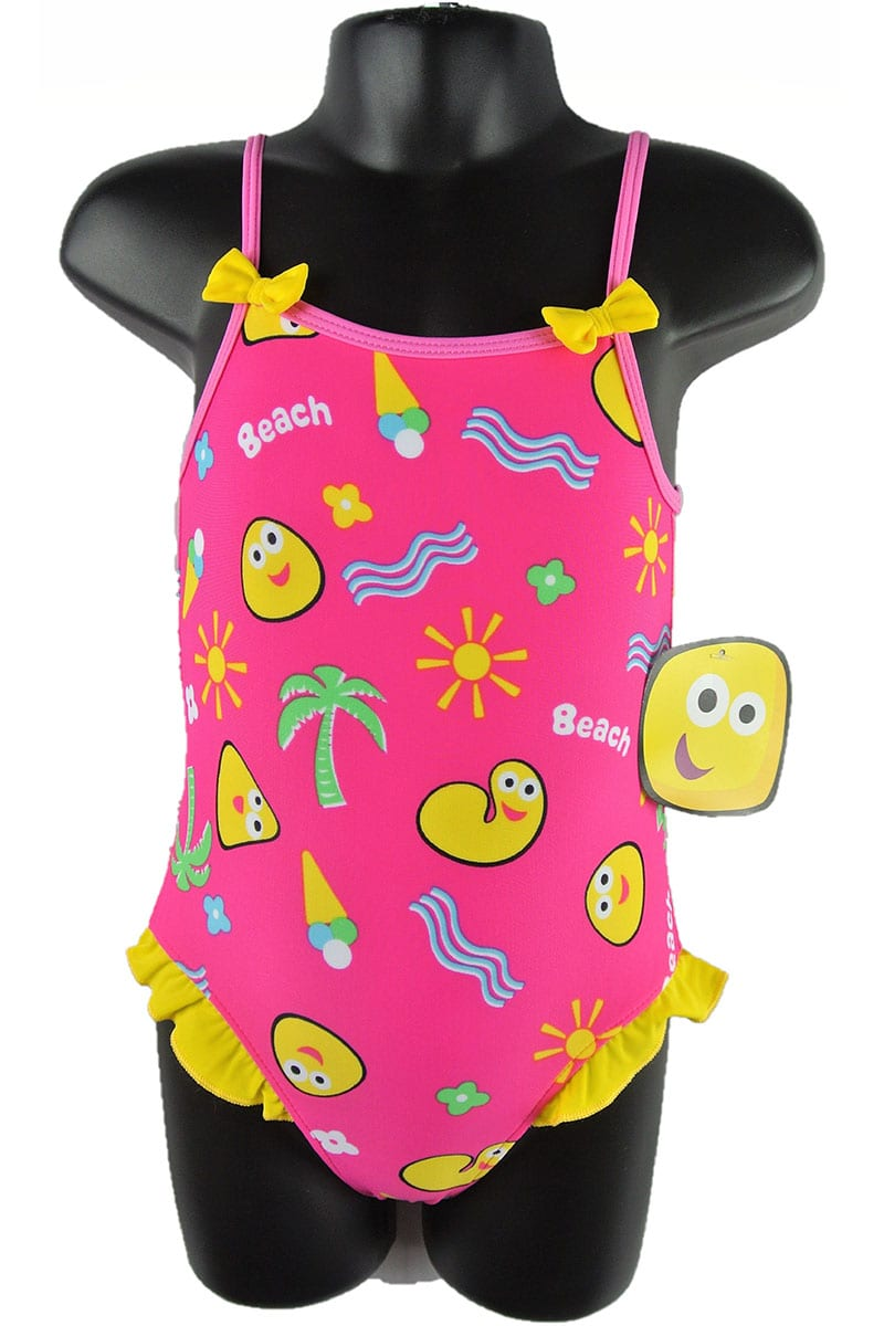 a105835df0ff7 Ex-Chainstore CBeebies Pink Girls Baby Kids 1 Piece Sunsafe Swim Suit  Costume with sun Protection in Material. £2.50 per item