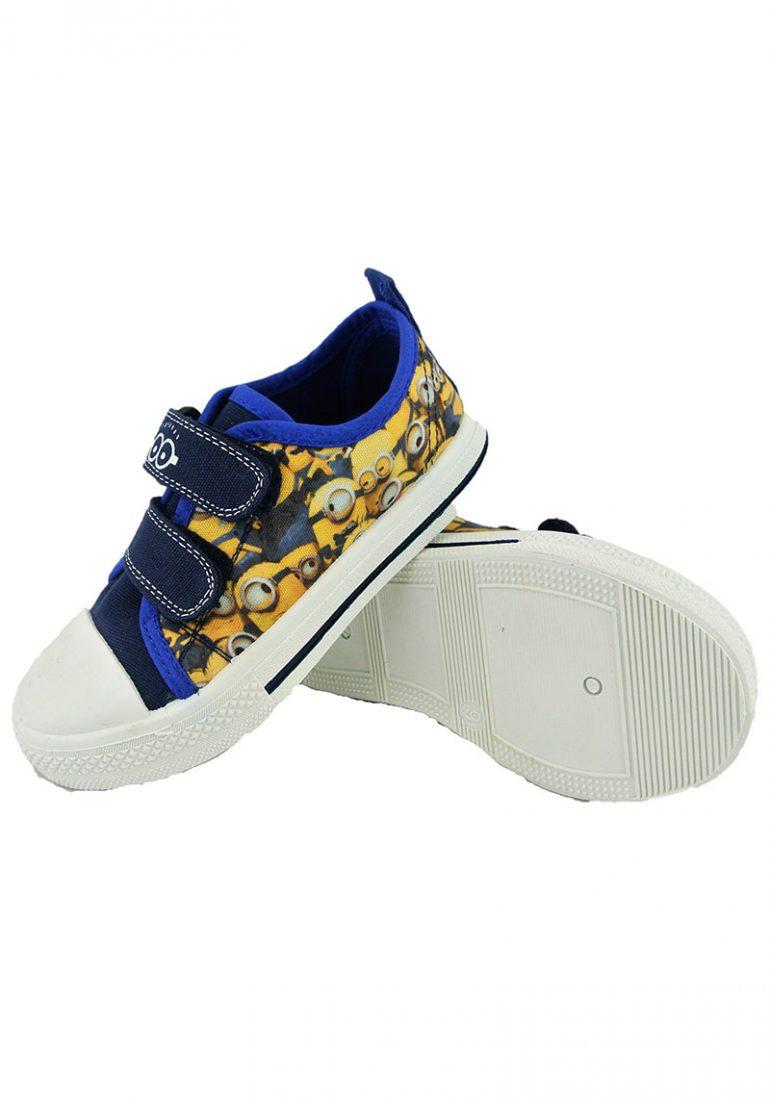 7e5debd0df Official Minions Despicable Me Ronskley Navy Boys Kids Casual Velcro Low  Canvas Shoes. £3.50 per item