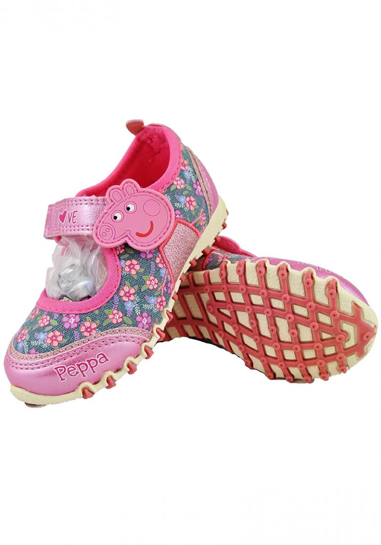 3182e9f467 Official Peppa Pig Pink Tropics Girls Kids Casual Velcro Low Trainers  Shoes. £4.50 per item