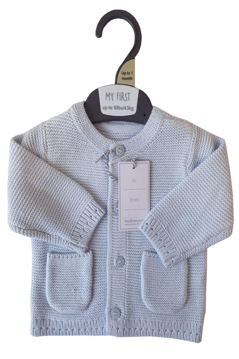 Ex Chain store M e Light Knitted Boys Blue Cardigan. £3.50 per item